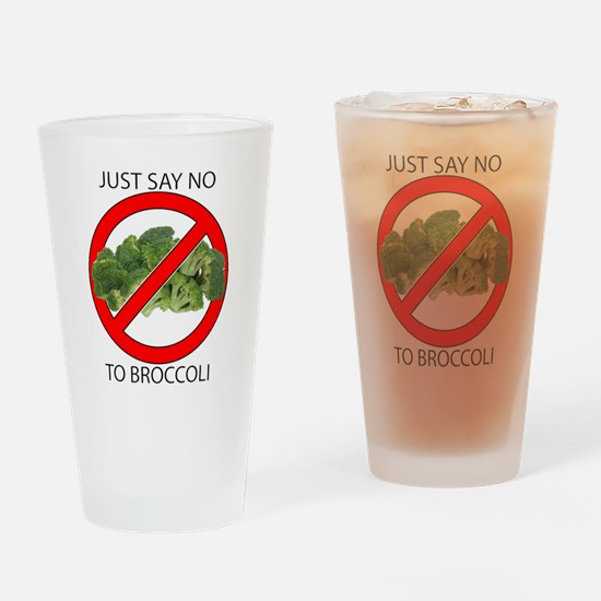 Just Say No to Broccoli Drinking Glass