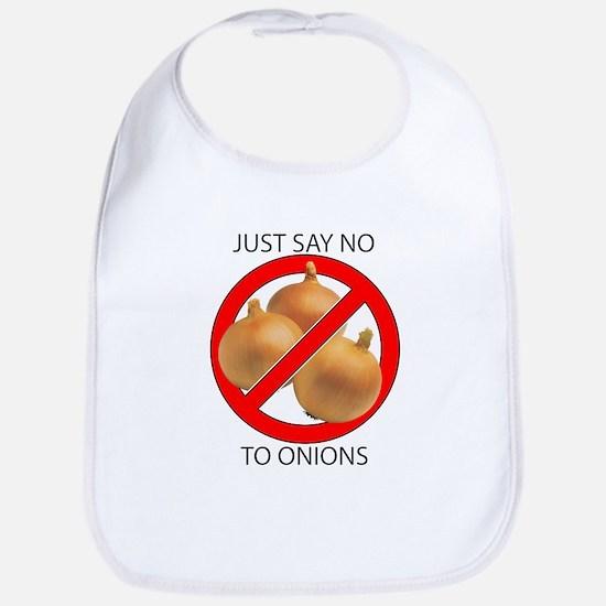 Just Say No to Onions Bib