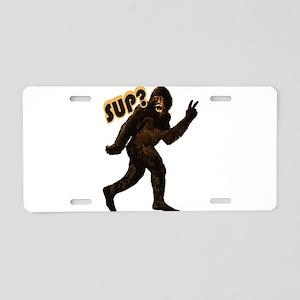 Bigfoot Sasquatch Yetti sup Aluminum License Plate