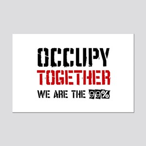 Occupy Together Mini Poster Print