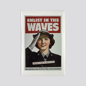 Enlist in the Waves Rectangle Magnet