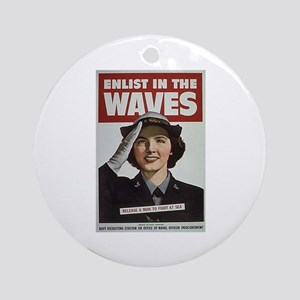 Enlist in the Waves Ornament (Round)