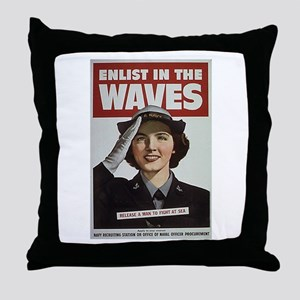 Enlist in the Waves Throw Pillow