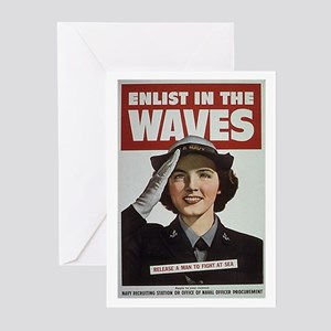 Enlist in the Waves Greeting Cards (Pk of 10)