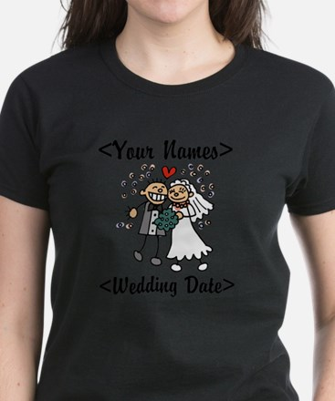 Just Married (Add Names & Wedding Date) Women's Da