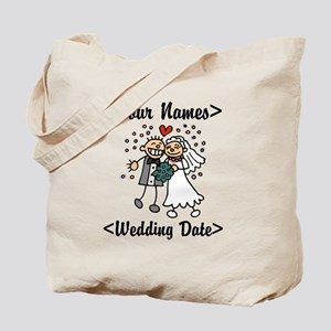 Just Married (Add Names & Wedding Date) Tote Bag