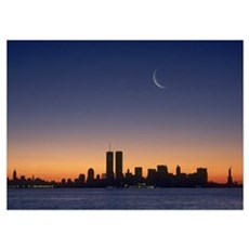 New York City Sunset Wall Art Poster
