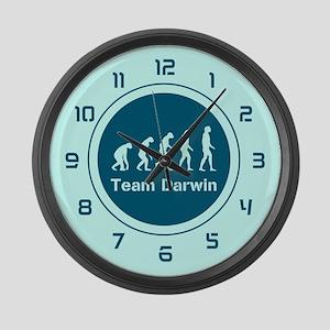 Team Darwin (Teal) Large Wall Clock