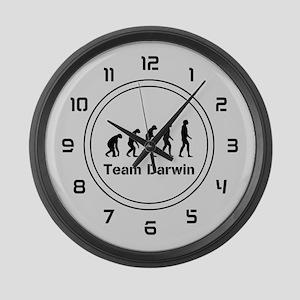 Team Darwin (silver) Large Wall Clock