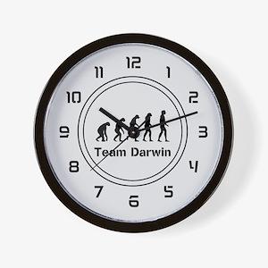 Team Darwin (silver) Wall Clock