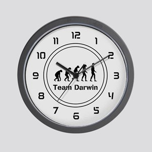 Team Darwin (silver) Wall Clock