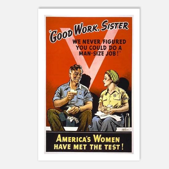 Good Work Sister Postcards (Package of 8)