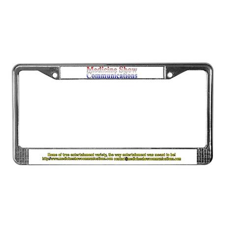 Medicine Show Comm Gear License Plate Frame