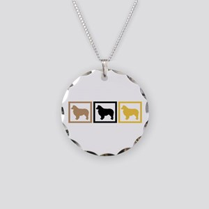 Australian Shepherd Dog Necklace Circle Charm