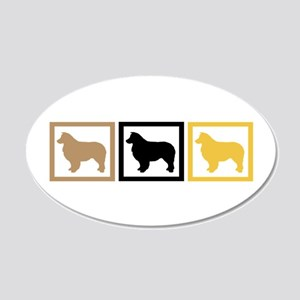 Australian Shepherd Dog 22x14 Oval Wall Peel