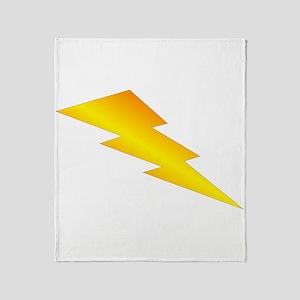 Lightning Bolt Gear Throw Blanket