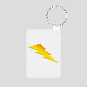 Lightning Bolt Gear Aluminum Photo Keychain