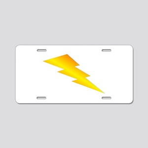 Lightning Bolt Gear Aluminum License Plate