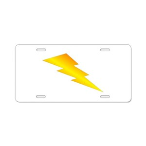Lightning Bolt Aluminum License Plates Cafepress