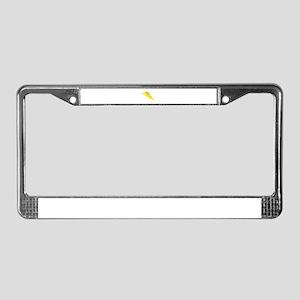 Lightning Bolt Gear License Plate Frame