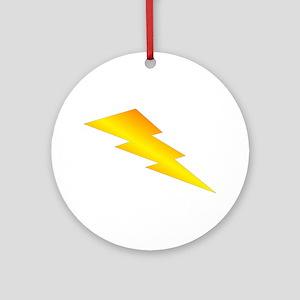 Lightning Bolt Gear Ornament (Round)