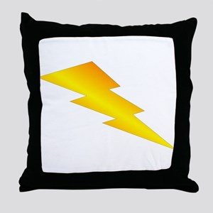 Lightning Bolt Gear Throw Pillow