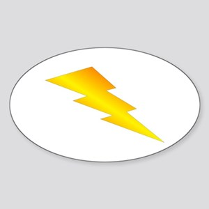 Lightning Bolt Gear Sticker (Oval)