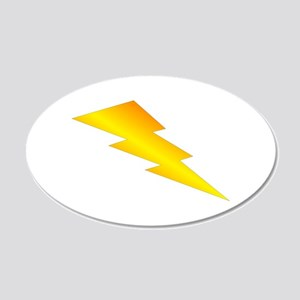 Lightning Bolt Gear 22x14 Oval Wall Peel
