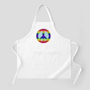 Rainbow Peace Sign Gear Apron