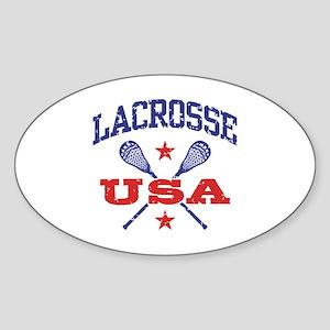 Lacrosse USA Sticker (Oval)