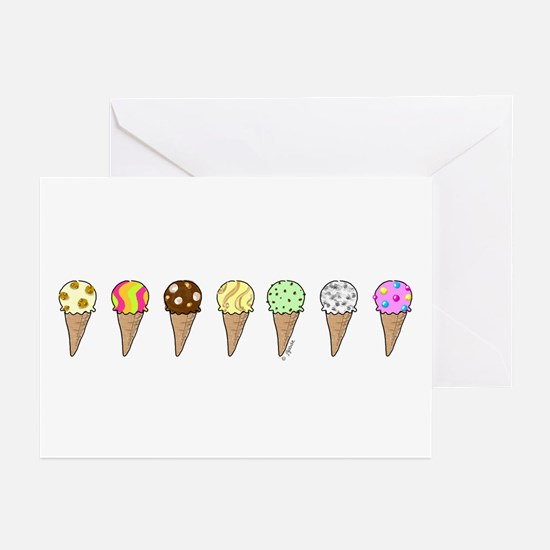 Lots of Ice Cream Greeting Cards (Pk of 10)