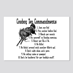 Cowboy Ten Commandments Postcards (Package of 8)