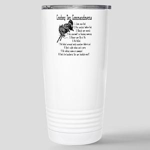 Cowboy Ten Commandments Stainless Steel Travel Mug