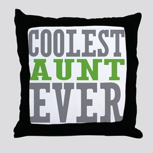 Coolest Aunt Ever Throw Pillow