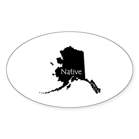 Alaska Sticker (Oval 50 pk)