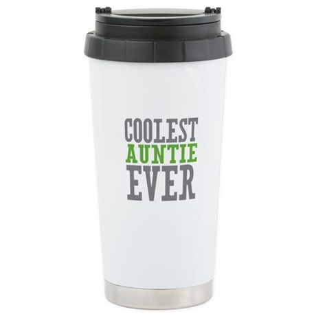 Coolest Auntie Stainless Steel Travel Mug