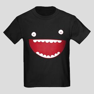 Funny Face Smiley Kids Dark T-Shirt