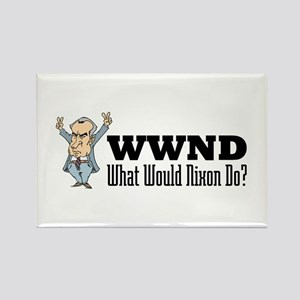 What Would Nixon Do Rectangle Magnet