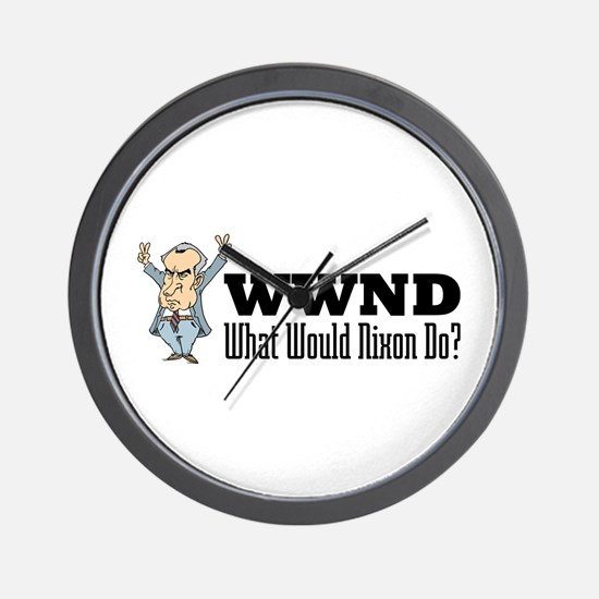 What Would Nixon Do Wall Clock