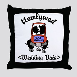 Newlywed (Add Wedding Date) Throw Pillow