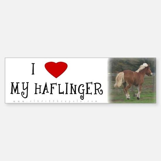 I love my Haflinger Bumper Bumper Bumper Sticker