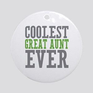 Coolest Great Aunt Ornament (Round)