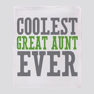 Coolest Great Aunt Throw Blanket