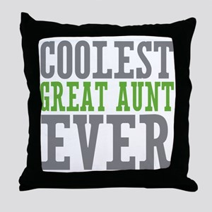 Coolest Great Aunt Throw Pillow