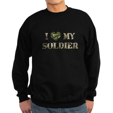 I Heart My Soldier Sweatshirt (dark)