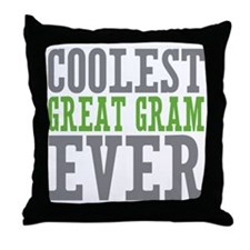 Coolest Great Gram Throw Pillow
