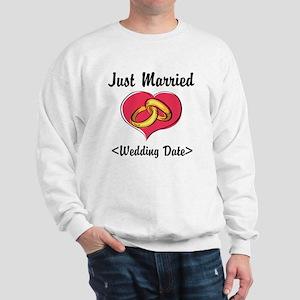 Just Married (Add Your Wedding Date) Sweatshirt
