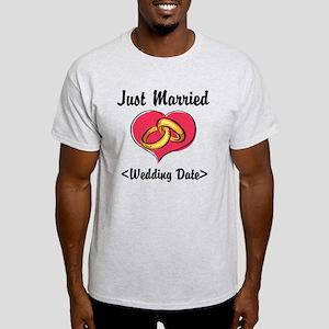 Just Married (Add Your Wedding Date) Light T-Shirt