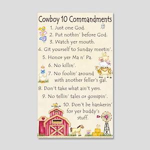 10 Commandments - Farm 22x14 Wall Peel