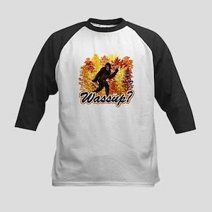 Whats Up Bigfoot Sasquatch Kids Baseball Jersey